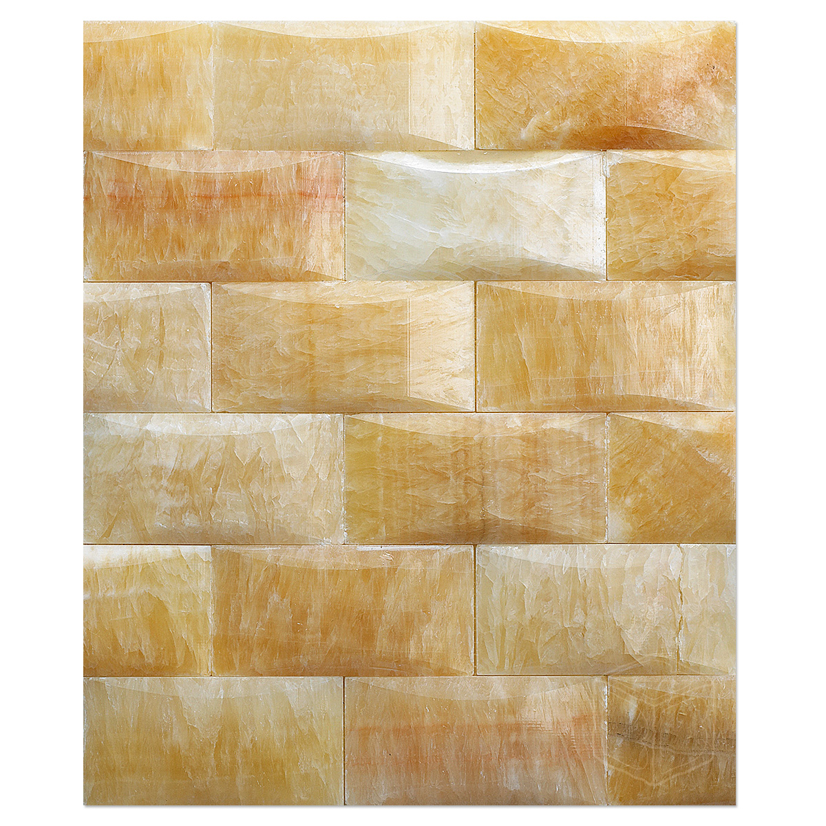 Honey Onyx Mosaic Polished 2x4 Pillowed