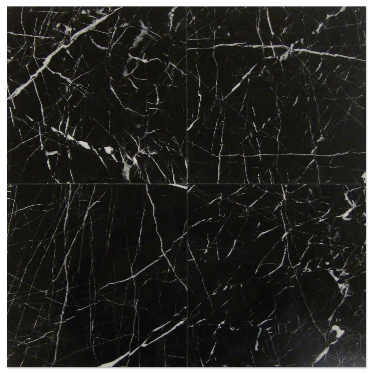 Nero Marquina Polished 12 215 12 Bayyurt Marble